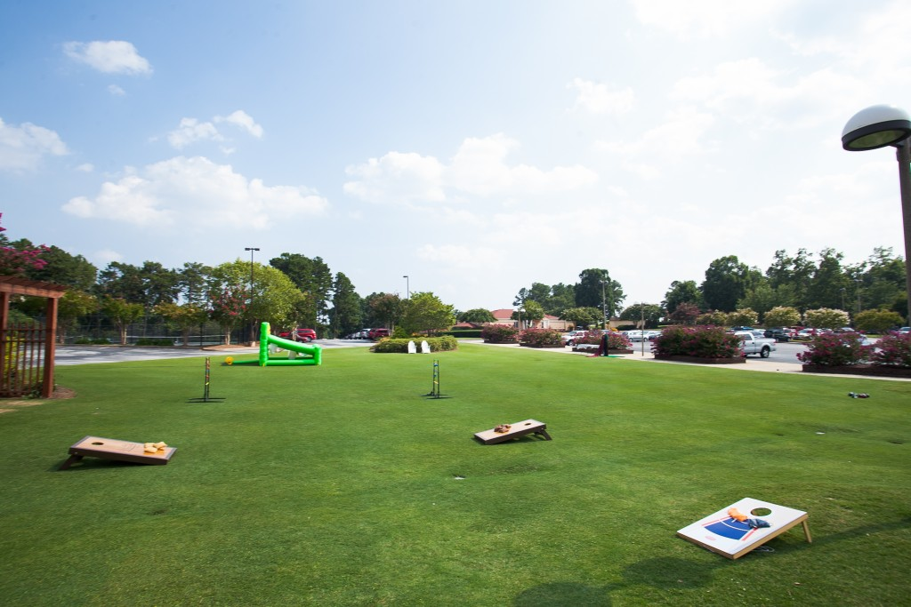 Lawn with fun games provided by The Preserve at verdae